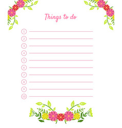 things to do banner label template planner for vector image