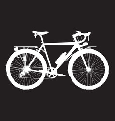 touring bike white vector image