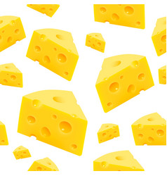 Triangular piece cheese texture seamless vector