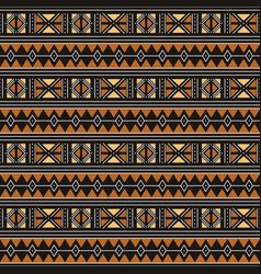 Tribal seamless pattern african fabric vector