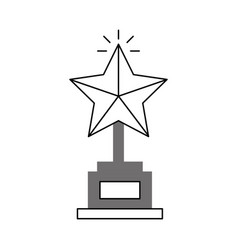 Trophy star award icon vector