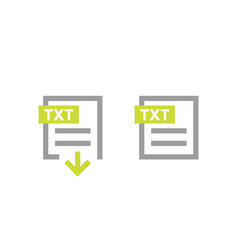 txt document download file icons vector image