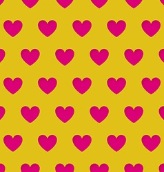 Valentines Day seamless pattern with carved hearts vector image
