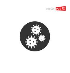 Virus and bacteria icon logo design vector