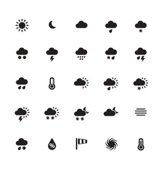 Weather icons on white background vector image