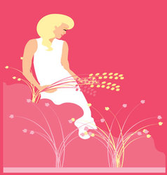 WOMAN-IN-NATURE-2 vector image