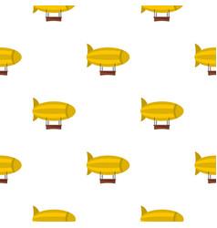 Yellow airship pattern seamless vector