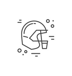 helmet city line icon vector image vector image