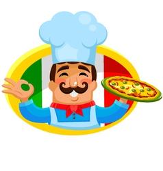 Italian chef vector image