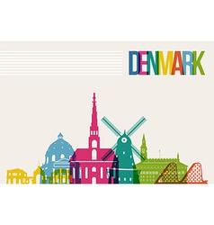 Travel Denmark destination landmarks skyline vector image vector image
