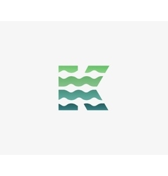 Abstract letter K logo icon design vector image vector image