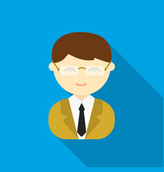 business man flat icon for web and vector image vector image