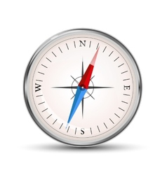 Glossy compass icon on white vector image vector image