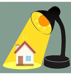 Sun Burn House vector image vector image