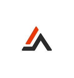 a letter alphabet business sport vector image vector image