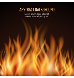 Abstract fire flame background vector image vector image