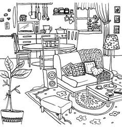 Cartoon of apartment vector image vector image