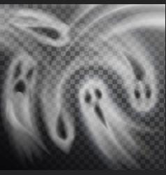 ghosts transparent background vector image