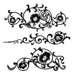 set elements ornaments floral vector image vector image