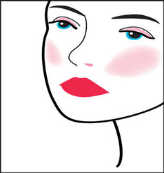 woman-face-15 vector image vector image
