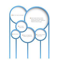 Abstract web design bubbles vector image vector image