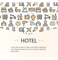 hotel concept infographics banner vector image vector image