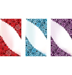 Three flower backgrounds vector image vector image