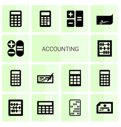 14 accounting icons vector