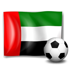 A soccer ball and the flag of United Arab Emirates vector
