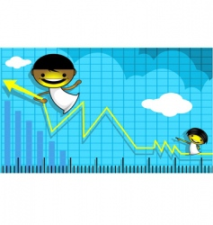 angel and graph vector image