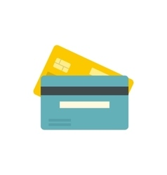 Bank credit card icon flat style vector image