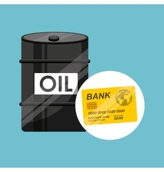 barrel oil concept credit card bank vector image