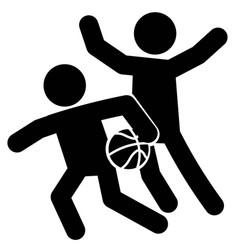 Basketball defense icon vector