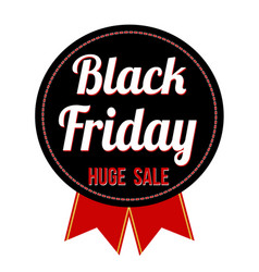 black friday label or seal vector image