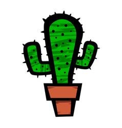 Cactus plant cartoon vector