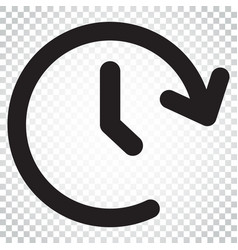 clock time icon timer 24 hours sign business vector image