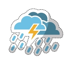 cloud and bolt icon vector image