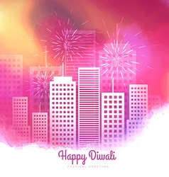 Colorful diwali season fireworks design vector