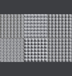 Colorless set of square tiles six options of vector