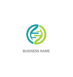 dna round connect logo vector image