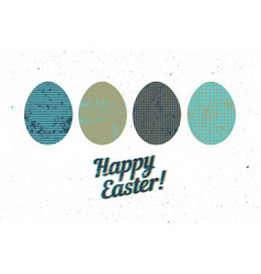 easter greeting card stylized ornamental eggs vector image
