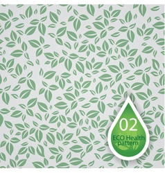 eco leafs pattern vector image