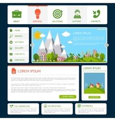 Eco website template vector image