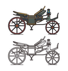 electric xix century carriage or retro automobile vector image