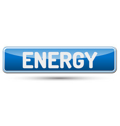 Energy - abstract beautiful button with text vector