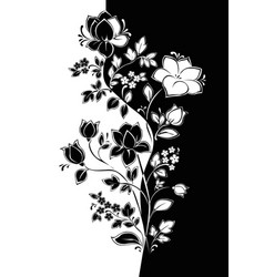 Floral pattern graphics in the style of yin yang vector