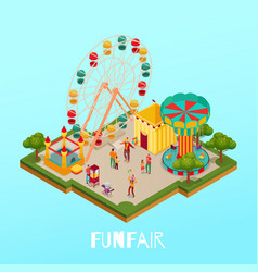 fun fair isometric vector image