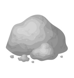 Golden ore icon in monochrome style isolated on vector