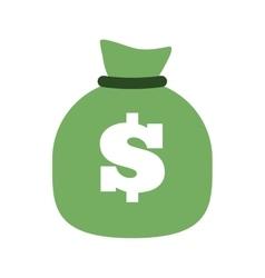 Green bag money dollar cash vector