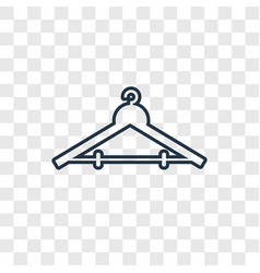 hanger concept linear icon isolated on vector image